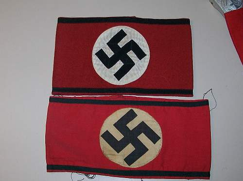 Early S.S. or S.A. Brownshirt armband