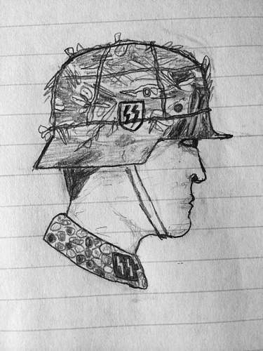 Waffen-SS soldier drawing