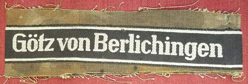 Cuff Title 17th Panzer Division Opinion