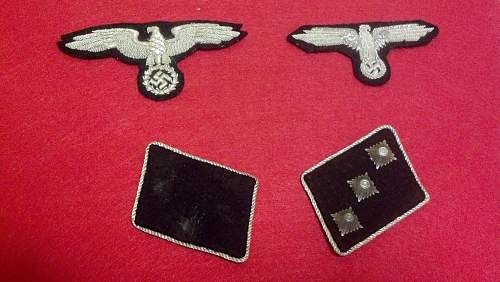 Bouillon sleeve eagle and SD collar tabs for review.