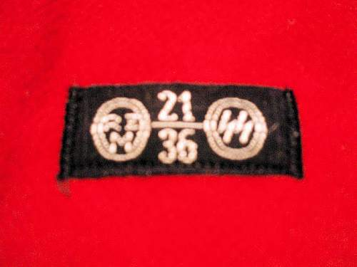 Wool NSDAP armband with SS cloth tag