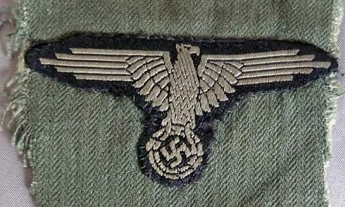Waffen ss bevo arm eagle cut off
