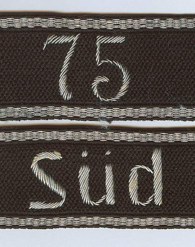Non standard SS cuff titles, Delich examples.