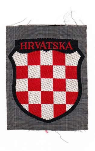Croation volunteers badge