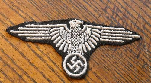 Dachau SS sleeve eagle??
