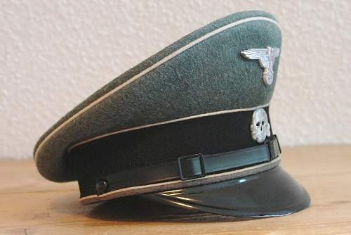 Waffen-SS NCO visor for review.
