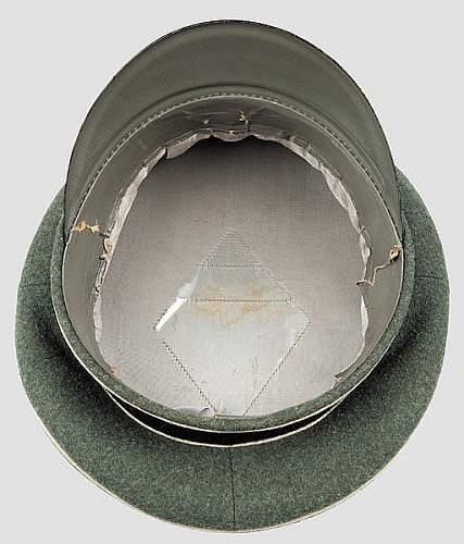 Waffen-SS NCO visor for review.