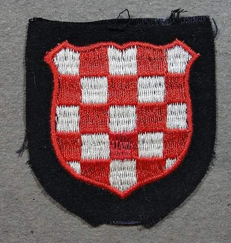 SS Kroatisch arm schild
