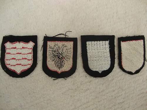 Latvian and Estonian SS Dachau shields - copy/reproduction or original