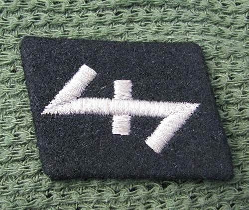 23rd ss panzergrenadier division nederland collar tab - original or fake