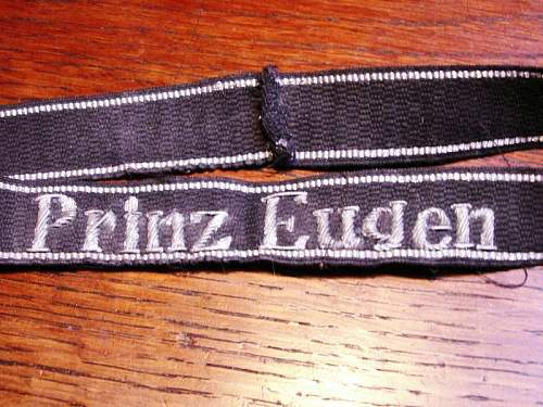 SS Prinz Eugen embroided cufftitle for review