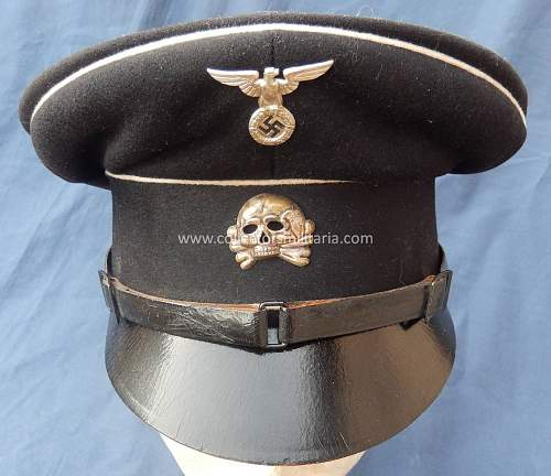Early Leather Peaked SS Cap