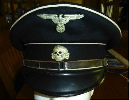 fake SS Dienstmuetze tag