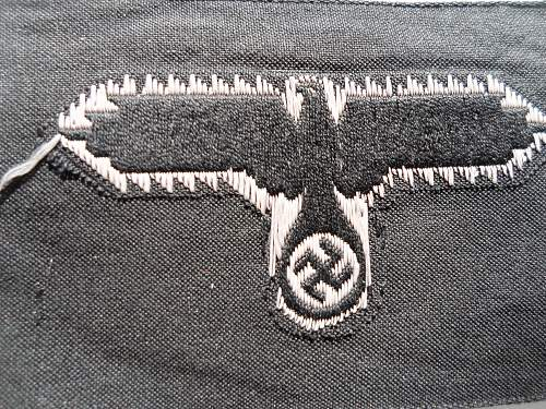SS cloth cap insignia