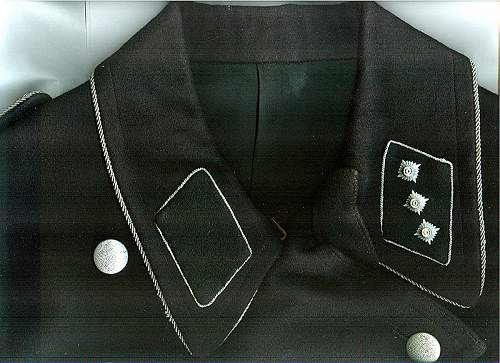 ss runes on breast police tunic