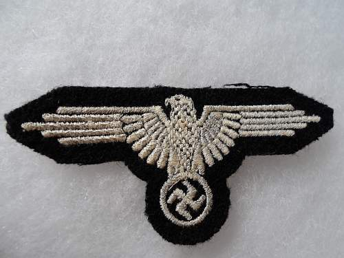 SS EM Embroidered Sleeve Eagle for Review