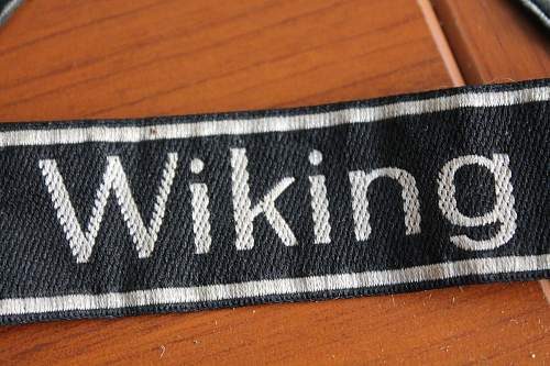 Wiking and Africa corps cufftitles Please help to Verify