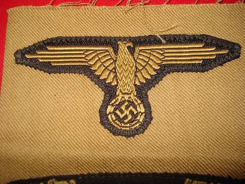 NCO Sleeve eagle Please Help to ID