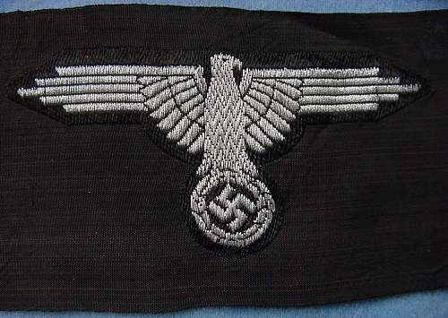 Four Types of Flatwire Officer Sleeve Eagles