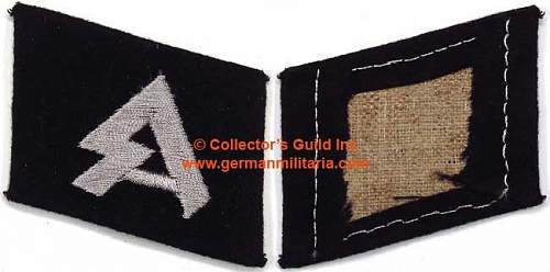 """The question on the original collar tab 36 SS division """"Dirlewanger"""""""