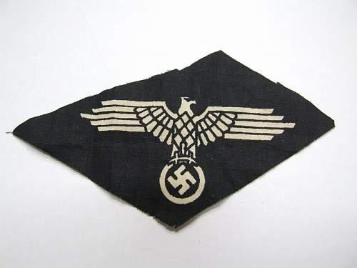 A late war SS sleeve eagle