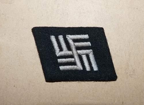 Latvian SS Double Swastika Collar Tab - Original/Fake?