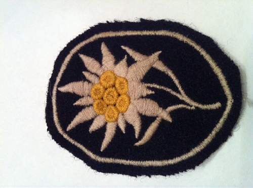 SS Edelweiss Sleeve insignia