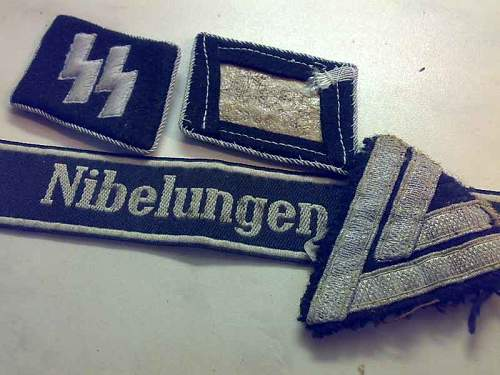 SS armband and insignia
