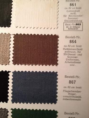 Erdbraun textile sample