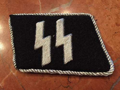 SS collar tabs and German Cross verification