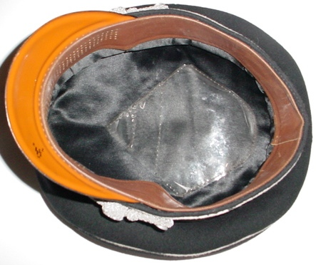 black officer's cap, ex Pepera.
