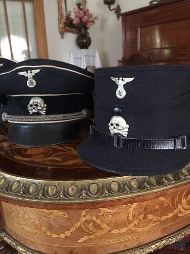 SS head wear with Danzig badge.