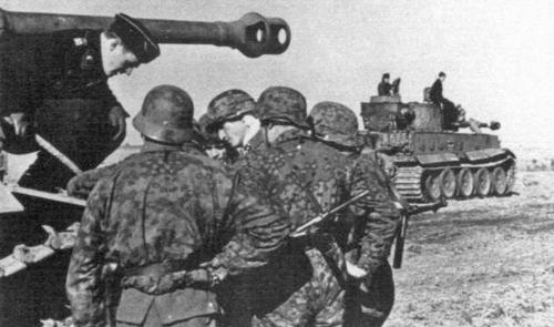 What camo smock was commonly used by the W-SS at Kursk?