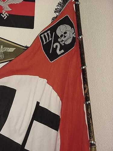 Totenkopf Standarte Sturmbannfahne
