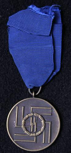 ss 4 & 8 year long service medals