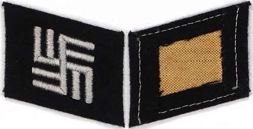 Ss temporary camp guards collar tab