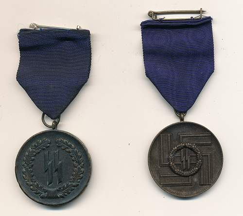 Pair of SS Service Medals - For Your Review
