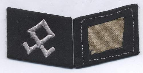 Prinz Eugen collar tab Original/Fake and comparison with other type