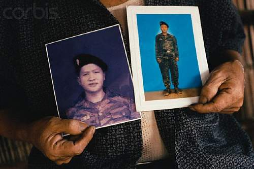 Hmong soldier wearing SS camo?