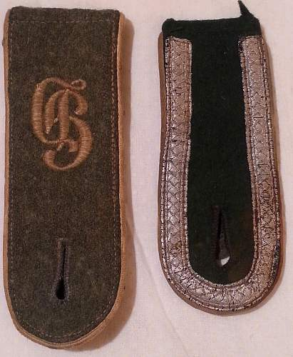 Need Help on Authenticating and Valuing SS Cufftitles and Shoulder Boards