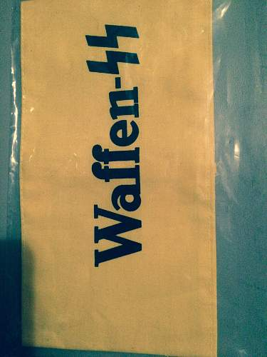 Printed Waffen SS armband?