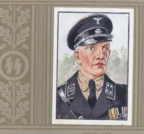 schwarze SS Tuchmuetze, Clemens Wagner,  aus dem Osten!