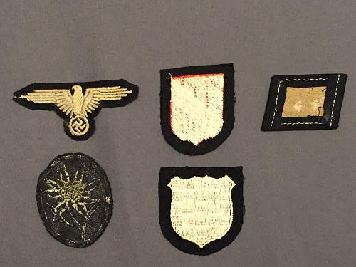 Some new SS cloth insignia