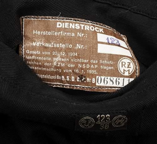 schwarze Uniform, Allgem. Sta. 1, Muenchen