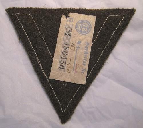 SS 1st Class Marksmanship Sleeve Diamond