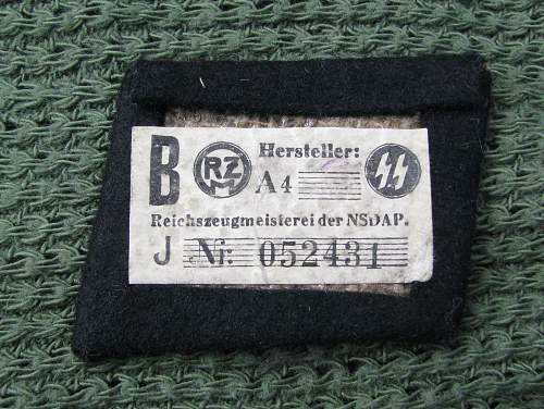 Officer's Bullion Collar Tab