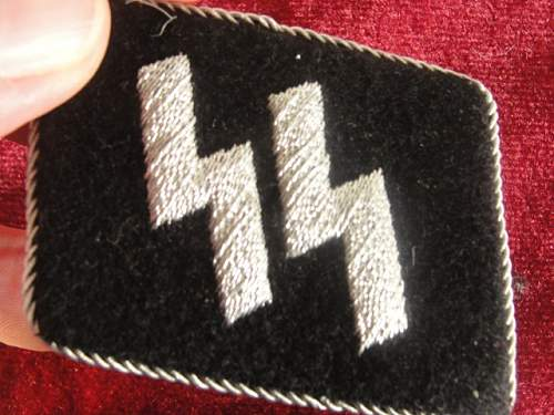Embroidered SS Officer's Collar Tabs