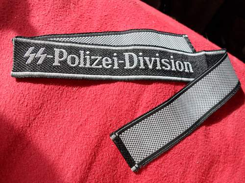 SS Polizei Cuff Title for review