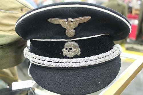 Waffen-SS Artillery Officer Visor Hat
