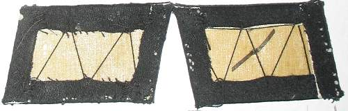 One set of unterscharfuhrer collar tabs